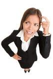 tänka för affärskvinnafolk Arkivbilder