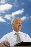 tänka för blå sky Fotografering för Bildbyråer