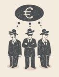 tänka för pengar Royaltyfri Bild