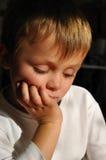 tänka för pojke Royaltyfria Bilder