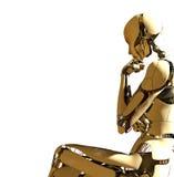 tänka för robot Royaltyfri Foto
