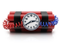 TNT и часы Стоковые Фото