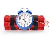 TNT, bomba-relógio da dinamite em um fundo branco ilustração stock