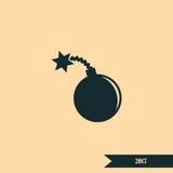 TNT bomby ikona Zdjęcie Royalty Free