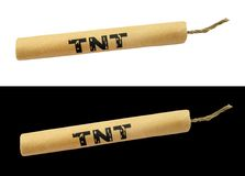 TNT dynamite stick with wick Royalty Free Stock Images