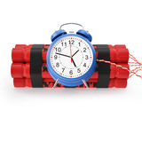 TNT, Dynamite time bomb on a white background. Stock Photography