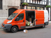 TNT Express delivery van Royalty Free Stock Photo