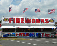 TNT Fireworks stand for Independence day Stock Photo