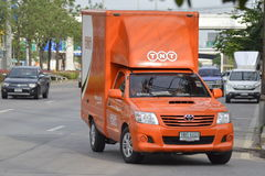 TNT logistic Container Pickup truck. Royalty Free Stock Image