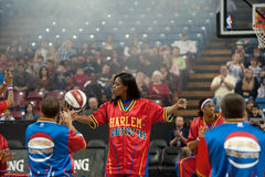 TNT Maddox. SACRAMENTO, CA - January 15: TNT Maddox of the The Harlem Globetrotters competes against the International Elite at Power Balance Pavilion in Stock Photo