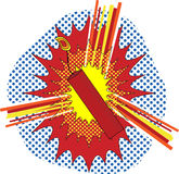 TNT Pop Art. TNT Dynamate in a pop art cartoon explosive style Stock Photography