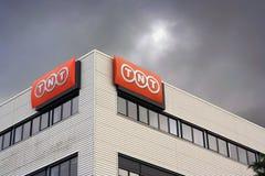TNT Wyrażają loga Obrazy Stock