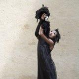 Tänzer und Pantomime Barbara Murata Stockbilder