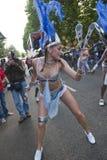 Tänzer von der La-Dreiheithin- und herbewegung Lizenzfreies Stockbild