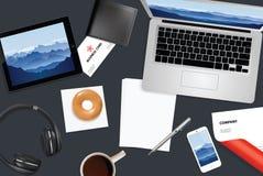 tożsamość przedsiębiorstw więcej mojego portfolio określa wzór Obraz Stock