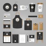 tożsamość przedsiębiorstw więcej mojego portfolio określa wzór Loga pojęcie dla sklep z kawą, kawiarnia, royalty ilustracja