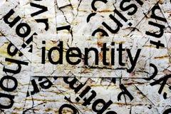 Tożsamości pojęcie Zdjęcia Stock