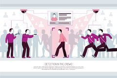 Tożsamościowych technologii Horyzontalny skład royalty ilustracja