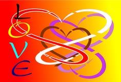Tło abstraktów miłość Zdjęcia Stock