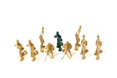 To Be Different Concept - Plastic Army Men Royalty Free Stock Photos