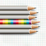 To be different, rainbow pencil near the simple Stock Photos