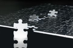 To be a leader. Concept made from puzzle pieces stock photos