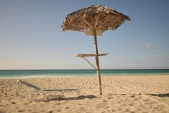 The tranquility under the umbrella Royalty Free Stock Photos