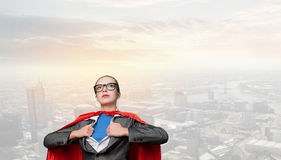 To be super woman takes strength Stock Image
