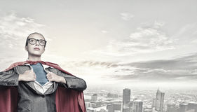 To be super woman takes strength Royalty Free Stock Photo