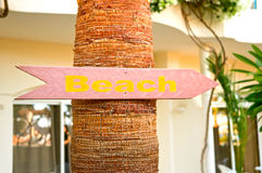 To the beach sign Royalty Free Stock Photography