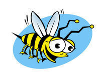 To Bee or Not To Bee. A very, joyous bee flying around Royalty Free Stock Photos