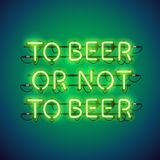 To Beer or Not to Beer Neon Sign Royalty Free Stock Photo