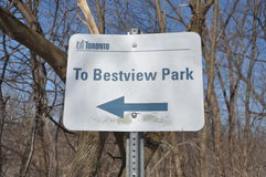 To Bestview park sign Royalty Free Stock Image