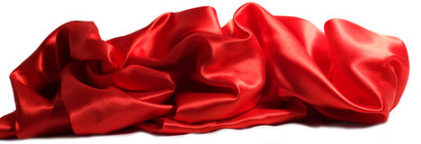 tło biel łgarski czerwony tekstylny falisty Obraz Royalty Free