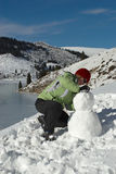 To a build snowman Stock Images