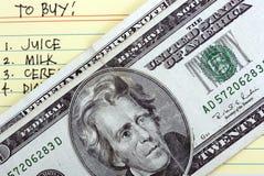 To buy list Stock Photo
