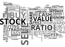 When To Buy And Sell Word Cloud Royalty Free Stock Photos