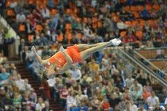 5to Campeonatos europeos en gimnasia artística Foto de archivo libre de regalías