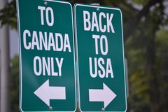 To Canada and to USA Stock Photo