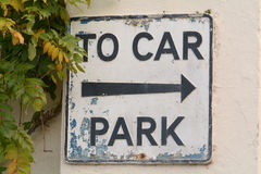 To Car park sign Stock Image