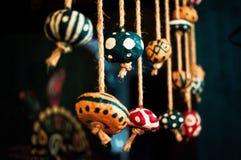 Этнические элементы декора. Бусины на верёвках royalty free stock photo