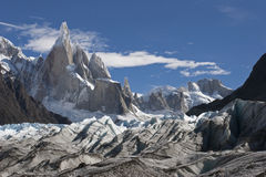To Cerro Torre glacier, Patagonia, Argentina Stock Photo