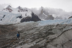 To Cerro Torre glacier, Patagonia, Argentina Royalty Free Stock Photo