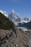 To Cerro Torre glacier, Patagonia, Argentina Stock Image