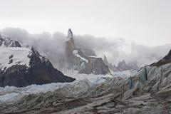 To Cerro Torre glacier, Patagonia, Argentina Stock Photography