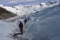 To Cerro Torre glacier, Patagonia, Argentina Royalty Free Stock Photography