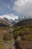 To Cerro Torre glacier, Patagonia, Argentina Royalty Free Stock Image