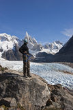 To Cerro Torre glacier, Patagonia, Argentina Stock Photography