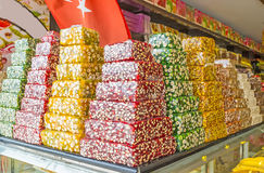 To choose the Turkish delight Royalty Free Stock Photos