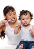 To clean a teeth. Stock Photo